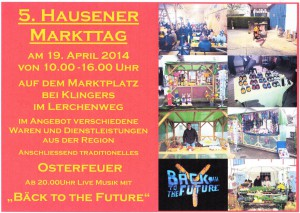 Plakat 5.Markttag 2014