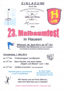 Plakat Maibaumfest 2014