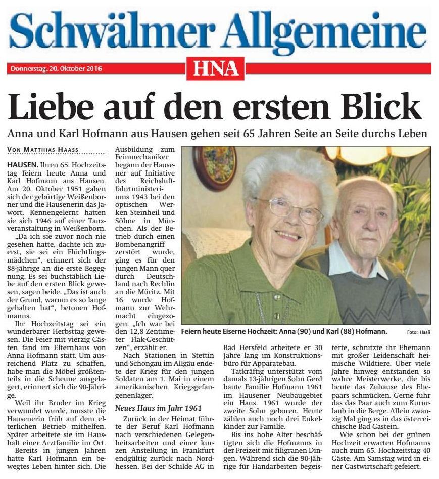 EiserneHochzeitHofmann