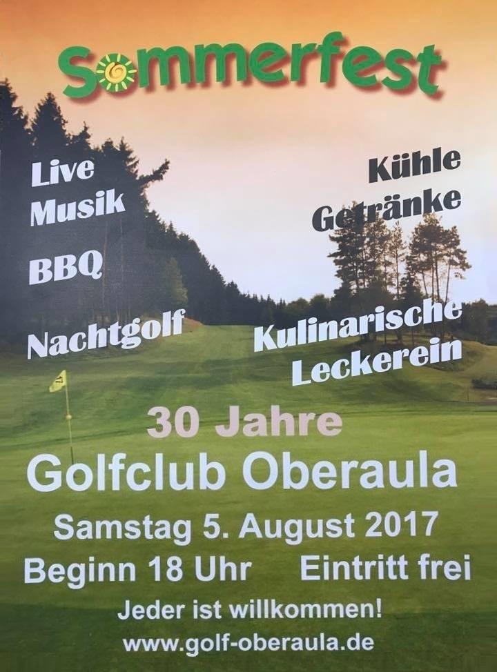 Golfclub: Sommerfest Zum 30 Jährigen Bestehen